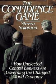 THE CONFIDENCE GAME by Steven Solomon