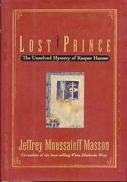 LOST PRINCE by Jeffrey Moussaieff Masson