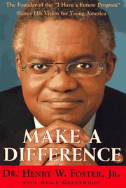 MAKE A DIFFERENCE by Jr. Foster
