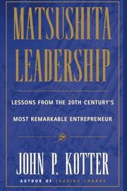 MATSUSHITA by John P. Kotter