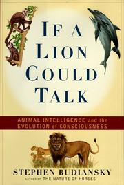 IF A LION COULD TALK by Stephen Budiansky