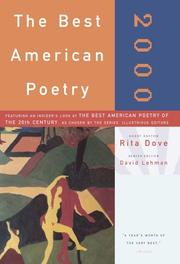 Book Cover for THE BEST AMERICAN POETRY 2000