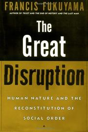 Cover art for THE GREAT DISRUPTION