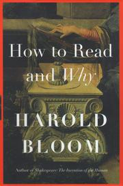 HOW TO READ ANY WHY by Harold Bloom