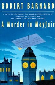 A MURDER IN MAYFAIR by Robert Barnard