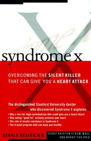 SYNDROME X by Gerald Reaven