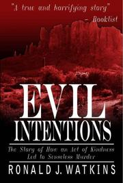 Cover art for EVIL INTENTIONS