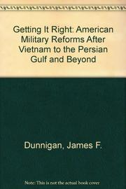 GETTING IT RIGHT by James E. Dunnigan
