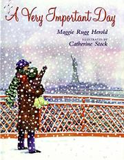 A VERY IMPORTANT DAY by Maggie Rugg Herold
