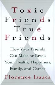 Book Cover for TOXIC FRIENDS--TRUE FRIENDS