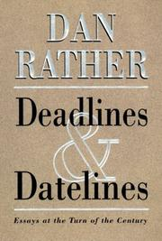 Cover art for DEADLINES AND DATELINES