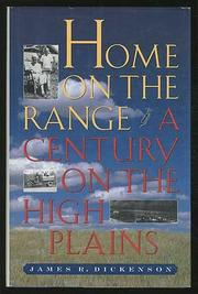 HOME ON THE RANGE by James R. Dickenson
