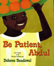 Book Cover for BE PATIENT, ABDUL