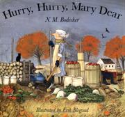 Cover art for HURRY, HURRY, MARY DEAR