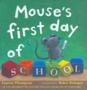 Cover art for MOUSE'S FIRST DAY OF SCHOOL