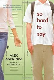 Book Cover for SO HARD TO SAY