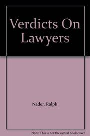 VERDICTS ON LAWYERS by Mark Green