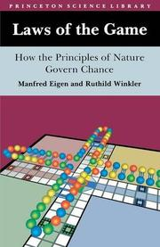 LAWS OF THE GAME: How the Principles of Nature Govern Chance by Manfred & Ruthild Winkler Eigen