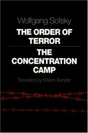 THE ORDER OF TERROR by Wolfgang Sofsky