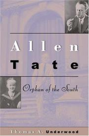 Cover art for ALLEN TATE