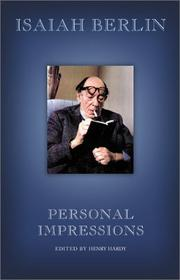 PERSONAL IMPRESSIONS by Henry Hardy