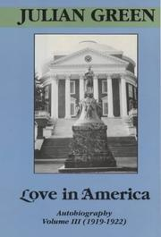 LOVE IN AMERICA by Julian Green