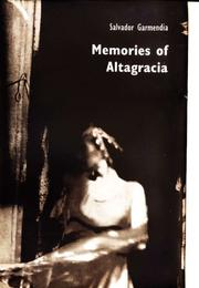 Cover art for MEMORIES OF ALTAGRACIA