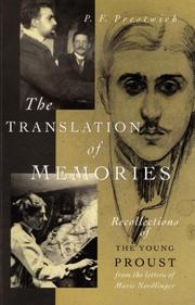 Cover art for THE TRANSLATION OF MEMORIES