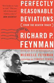 PERFECTLY REASONABLE DEVIATIONS FROM THE BEATEN TRACK by Richard P. Feynman