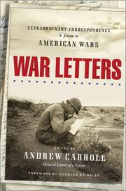 Cover art for WAR LETTERS