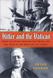 HITLER AND THE VATICAN by Peter Godman