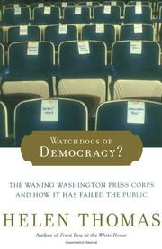 Book Cover for WATCHDOGS OF DEMOCRACY?