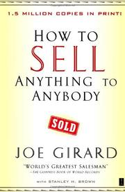 HOW TO SELL ANYTHING TO ANYBODY by Joe with Stanley H. Brown Girard