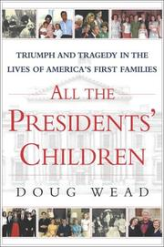 Book Cover for ALL THE PRESIDENT'S CHILDREN