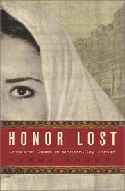 HONOR LOST by Norma Khouri