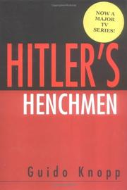 Cover art for HITLER'S HENCHMEN