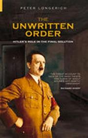 Cover art for THE UNWRITTEN ORDER