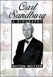 CARL SANDBURG by Milton Meltzer