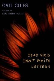 Book Cover for DEAD GIRLS DON'T WRITE LETTERS