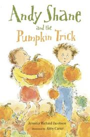 ANDY SHANE AND THE PUMPKIN TRICK by Jennifer Richard Jacobson