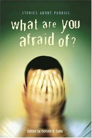 Book Cover for WHAT ARE YOU AFRAID OF?