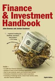 BARRON'S FINANCE AND INVESTMENT HANDBOOK by John & Jordan Elliot Goodman Downes