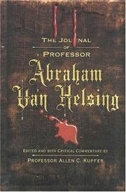 Book Cover for THE JOURNAL OF PROFESSOR ABRAHAM VAN HELSING