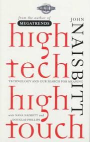 HIGH TECH/HIGH TOUCH by John Naisbitt