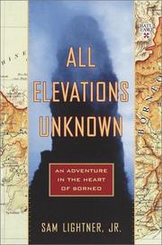 ALL ELEVATIONS UNKNOWN by Sam Lightner