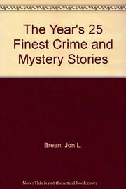 THE YEAR'S 25 FINEST CRIME AND MYSTERY STORIES by Mystery Scene