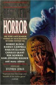 BEST NEW HORROR 6 by Stephen--Ed. Jones
