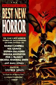 THE MAMMOTH BOOK OF BEST NEW HORROR 7 by Stephen Jones