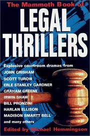 THE MAMMOTH BOOK OF LEGAL THRILLERS by Michael Hemmingson