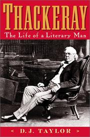 THACKERAY by D.J. Taylor